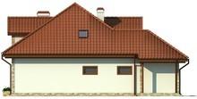 Проект коттеджа с гаражом и мансардными окнами
