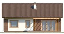 Одноэтажный коттедж с двухскатной крышей в классическом стиле