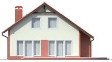 Симпатичный дом с мансардой и большими окнами