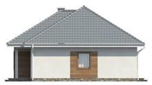 Одноэтажный коттедж с крытой террасой