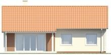 Проект небольшого одноэтажного коттеджа с просторными помещениями