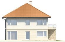 Проект 2-х этажного дома на две семьи с террасой над гаражом