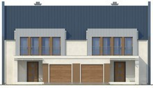 Проект дома на две семьи в стиле модерн