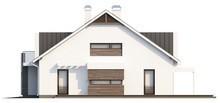 Проект дома hi-teсh с гаражом