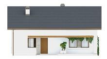 Проект одноэтажного коттеджа с маленьким чердаком