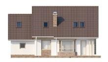 Проект стильного коттеджа с мансардой и гаражом