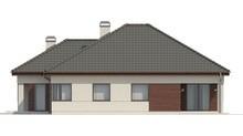 План красивого дома на 155 кв. м под сложной кровлей из металлочерепицы