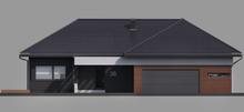 Одноэтажный современный дом с просторным гаражом на два автомобиля