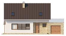 Проект мансардного коттеджа с кабинетом и террасой над гаражом