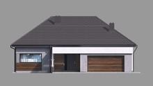 Одноэтажный коттедж с гаражом на два автомобиля