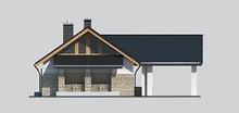 Стильный жилой дом с зоной для приготовления шашлыков