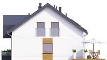 Аккуратный жилой дом с уютными балконами