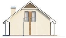 Проект 1.5-этажного дома с гаражом, балконом и эркером