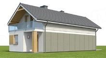 Проект загородного дома с балконами