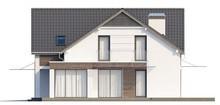 Проект коттеджа с панорамными окнами в угловом эркере