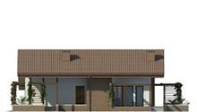 Стильный жилой дом с мансардой и гостиной со вторым светом