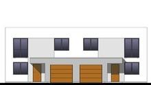 Стильный современный двухэтажный дом на две семьи