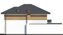 Проект загородного дома для узкого участка