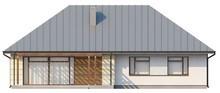 Одноэтажный классический проект загородного коттеджа