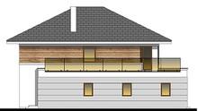 Проект современного дома с просторной террасой