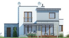 Проект современного дома с четырьмя спальнями