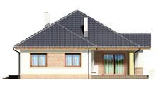 Загородный одноэтажный дом с камином-барбекю
