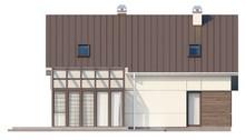 Проект 1,5-этажного дома с дополнительной спальней и застекленной террасой