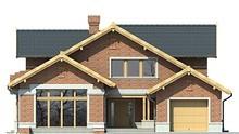 Красивый двухэтажный дом с гаражом и гостиной интересной формы