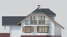 Восхитительный двухэтажный коттедж с деревянными ставнями