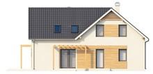 Загородный коттедж со светлым фасадом