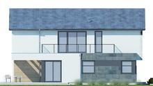 Современный модный дом в два этажа