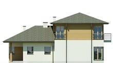 Чертежи красивого двухэтажного дома со спальнями на разных этажах