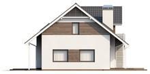 Мансардный особняк с угловой террасой и гаражом
