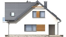Проект живописной усадьбы в европейском стиле со стационарными цветочными клумбами общей площадью 165 кв. м, жилой 110 кв. м