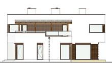 План роскошного особняка в стиле минимализма общей площадью 261 кв. м