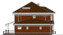 Проект красивого дома в два этажа общей площадью 200 кв. м