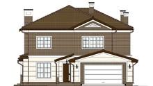 План оригинального особняка с гаражом и пятью спальнями