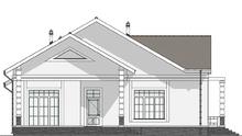Красивый особняк с просторной террасой из серого кирпича общей площадью 271 кв. м, жилой 141 кв. м