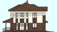 План большого коттеджа с эркером и гаражом площадью 212 кв. м