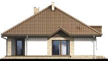 Проект одноэтажного коттеджа со встроенным гаражом общей площадью 136 кв. м