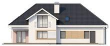 Стильный 1,5-этажный дом с гаражом для двух автомобилей