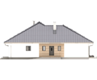 Европейский дом под кровлей из натуральной черепицы общей площадью 165 кв. м, жилой 70 кв. м