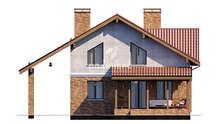 План современного двухэтажного дома площадью 158 кв. м в традициях европейской архитектуры