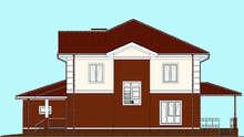 Проект особняка площадью 262 кв. м с просторным гаражом и открытой летней террасой