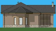 Проект небольшого коттеджа для дачного участка площадью 74 кв.м