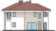 Строгий двухэтажный дом в европейском стиле