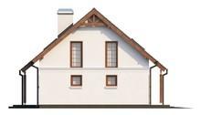 Двухэтажный классический коттедж с балконом над эркером
