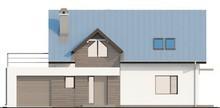 Проект симпатичного коттеджа с террасой над гаражом