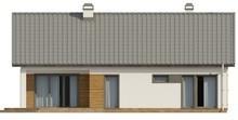 Проект уютного дома с мансардой и антресолью над гостиной