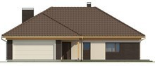 Большой одноэтажный дом со сдвоенным гаражом